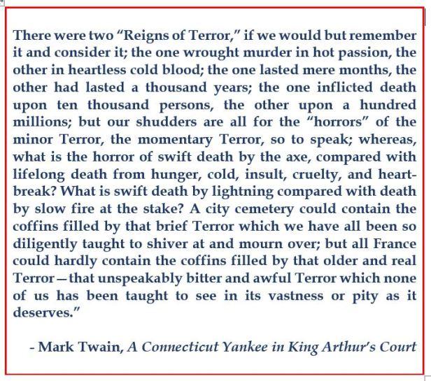 Twain on the Terror