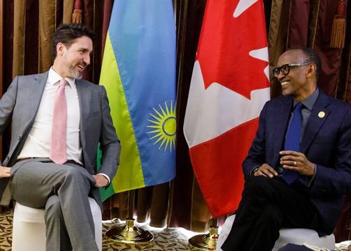Trudeau-Kagame-2020 meeting
